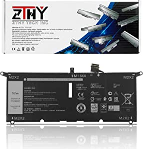 ZTHY 52Wh DXGH8 Laptop Battery for Dell XPS 13 9370 9380 Inspiron 13 7390 7391 2-in-1 5390 5391 7490 Latitude 3301 E3301 Vostro 5390 5391 Series G8VCF H754V 0H754V P82G001 7.6V 6500mAh 4-Cell