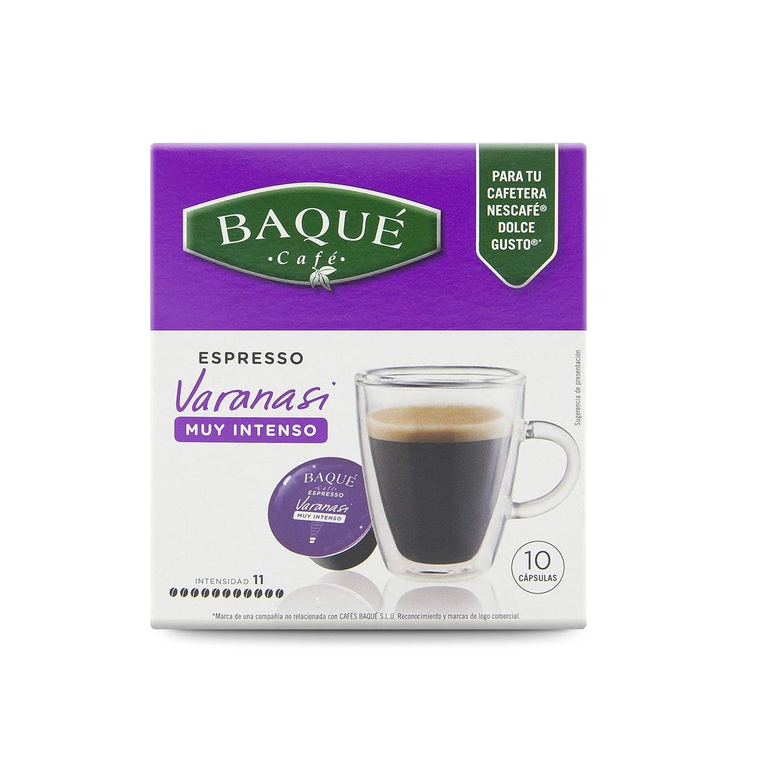 Cafés Baqué Capsulas Compatibles Dolce Gusto Espresso Varanasi 40 Unidades 720 g