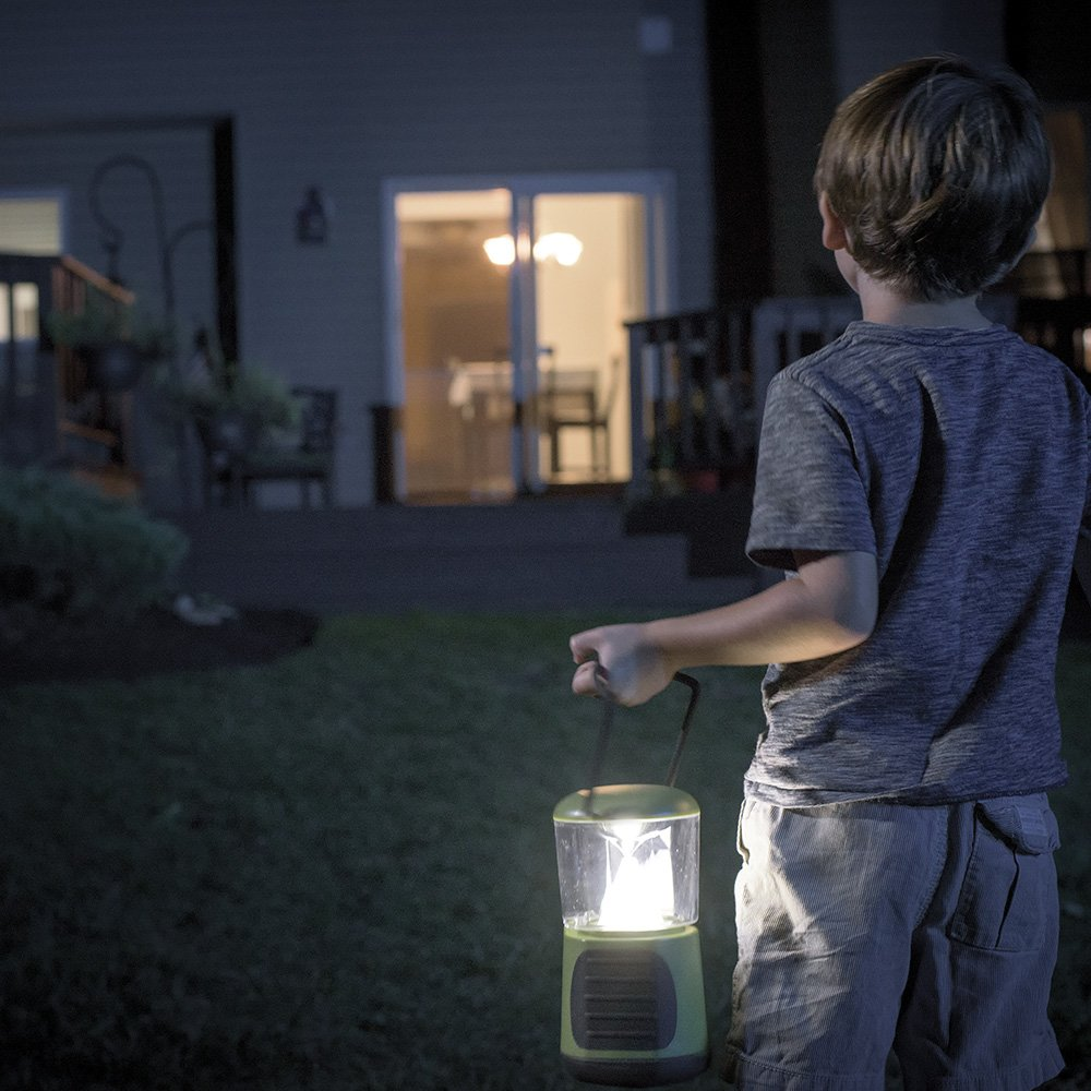 Mr. Beams MB472 UltraBright 260 Weatherproof Lumen LED Lantern with USB Port as a Backup Battery Charger, Green, 2-Pack by Mr. Beams (Image #3)