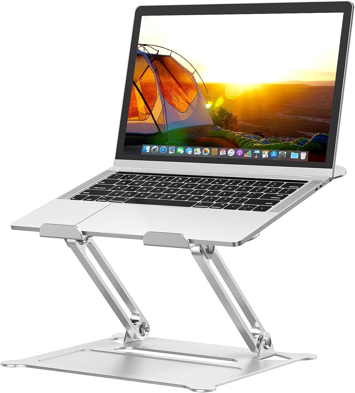 MOEVERT Soporte Portatil, Ajustable Soporte para Ordenador Portátil Aluminio Soporte para Laptop Portátil Plegable Laptop Stand para MacBook Pro Air, DELL, HP, iPad y Otros 10-16