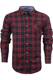 Work Casual Shirt flannel Brush Cotton Check Lumberjack Gardening Walking Shirts