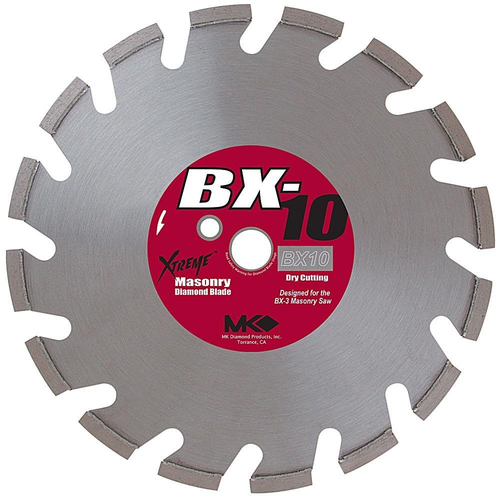 Disco de Diamante MK DIAMOND 157957 BX-10 segmentado de corte en seco de 14 pulg. con eje de 1 pulgada para ladrillo dur