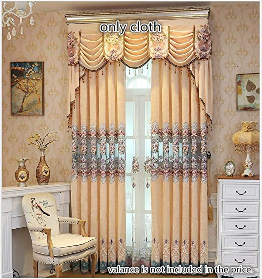 Luxury European Gold//Silver Royal Curtains for Bedroom Window Living Room