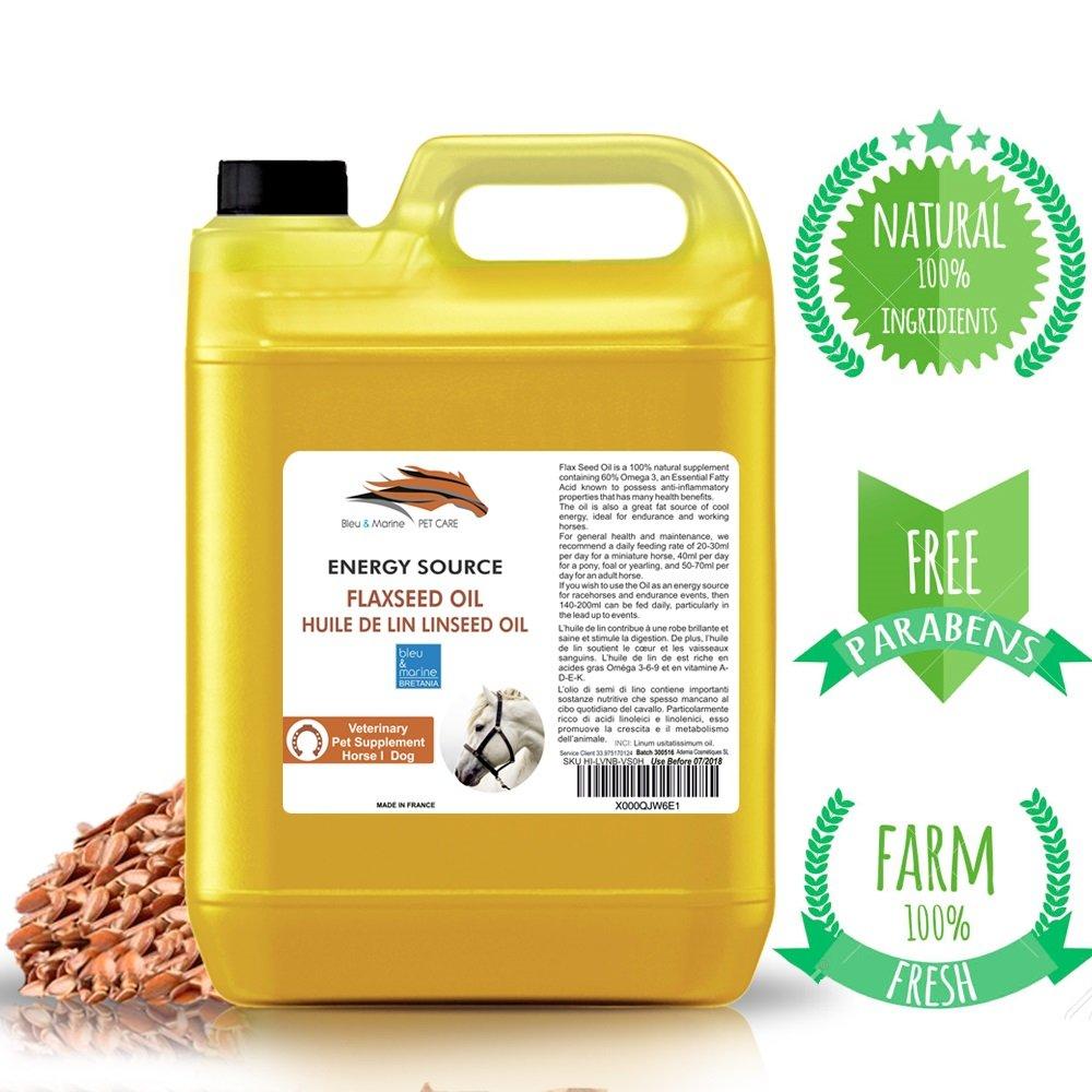 Olio di Lino Cavalli e Animali Domestici 100% Natural 1000 ml Made in France