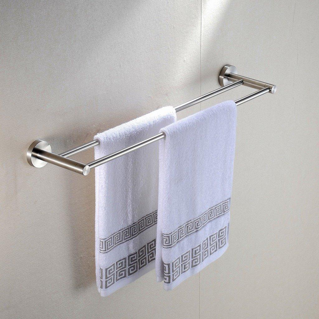 Greenspringバスルーム洗面所タオルバー壁マウント、つや消しステンレススチール G-822102 B00ZI18PP8Round2