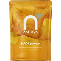 Naturya | Peruvian Organic Raw Maca Powder 300g | Certified Organic, Vegan & Kosher Superfoods | Packed with Vit B2, Iron & Fibre