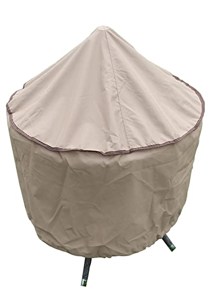 Fabulous Sorara Round Fire Pit Cover Outdoor Heavy Duty Waterproof And Weather Resistant 40 Inch Beige Evergreenethics Interior Chair Design Evergreenethicsorg