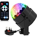 Disco Lights, ROOROO Disco Ball Lights Sound Activated Party Lights 7 Lighting Color Disco Lights with Remote Control for Festival Bar Club Party DJ Karaoke Xmas Wedding Show and Outdoor
