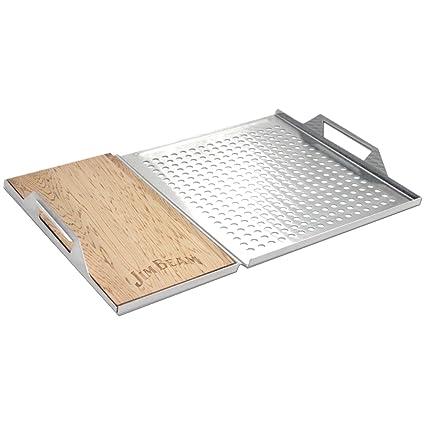 Amazon.com: Jim Beam de cedro Plank Grill Topper Set: Sports ...