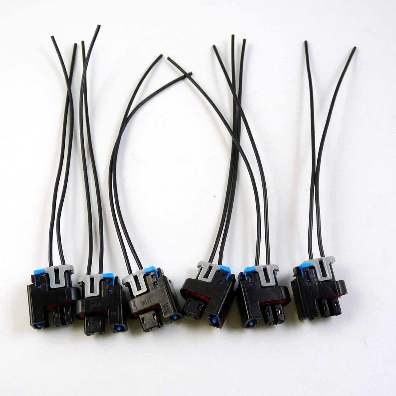 6Pcs Fuel Injector Connector Harness Pigtail Replaces 1P1575 NEW For Chevrolet GMC Yukon Pontiac Grand Am Buick S10 Silverado 1500 Silverado 2500 Silverado 2500 HD Silverado 3500