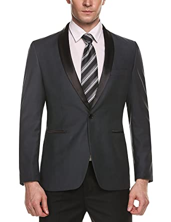 aba19a7f7231 Lilis® Herren Slim Fit Stilvolle Casual One-Button-Anzug Jacke Business  Blazer