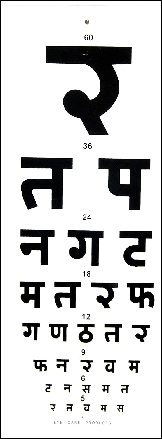 Eye distance vision chart hindi amazon industrial scientific ccuart Gallery