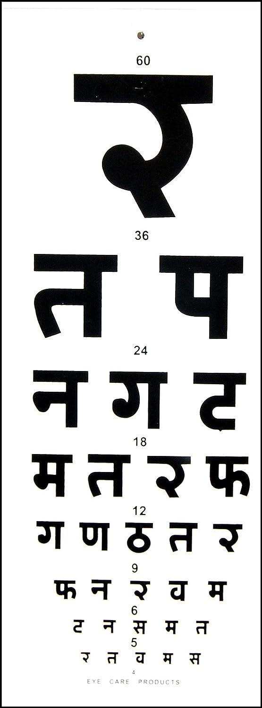 Eye Distance Vision Chart Hindi Amazon Industrial Scientific