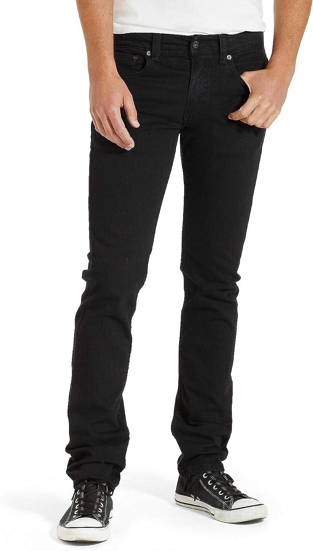 TALLA 28W / 32L. Levi's 511 Slim Fit Black Stretch Vaqueros para Hombre