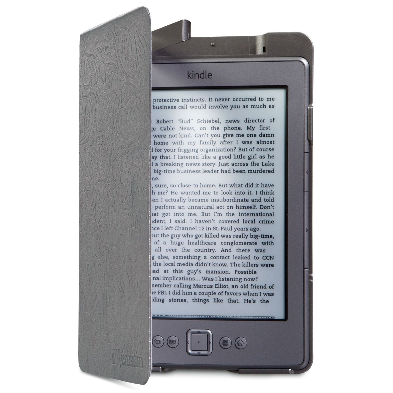 verbatim folio case with led light for kindle 4 and 5