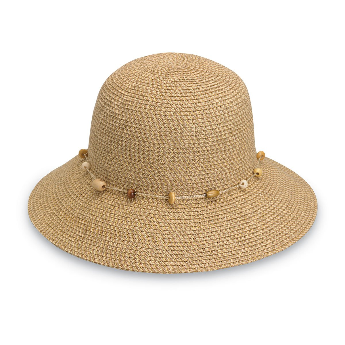 Wallaroo Hat Company Women's Naomi Sun Hat - UPF 50+, Packable, Modern Style, Designed in Australia - Natural