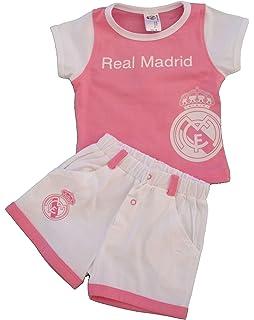 Real Madrid CF - Conjunto de pantalón Corto y Camiseta de Manga ... a80c3574ca248