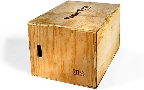Powergym Premium Plyo Caja de Salto plyoométrica Crossfit 30 Pulgadas 24 Pulgadas 20 Pulgadas 3 en 1: Amazon.es: Deportes y aire libre