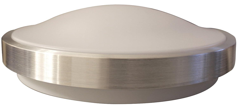 silberfarbig 8020-35 18 W Deckenleuchte IP44 1380 lm Eco Light LED-Badleuchte Milano Durchmesser 35 cm Aluminium