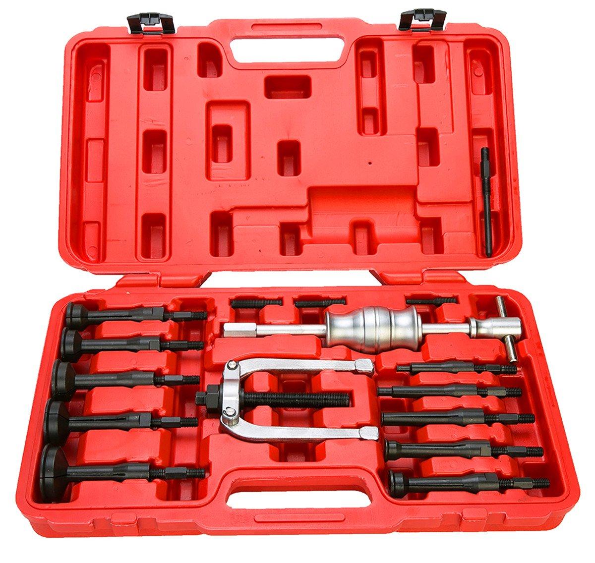 FreeTec, 16 piezas,Extractor interior para orificio ciego, conjunto de Extractores de rodamientos, con martillo deslizante freebirdtrading