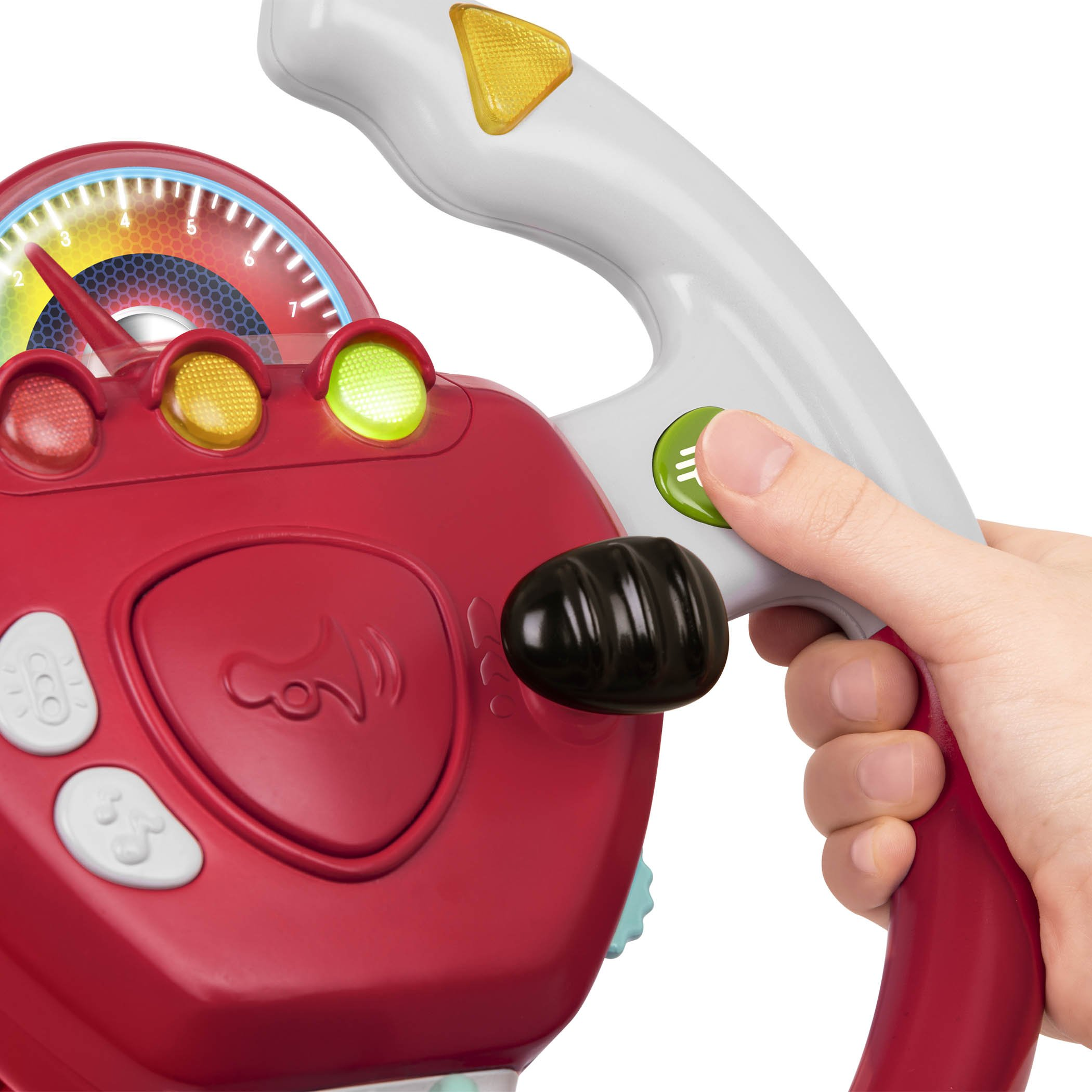 Battat - Geared to Steer Interactive Driving Wheel - Portable Pretend Play Toy Steering Wheel for Kids 2 years + by Battat (Image #5)