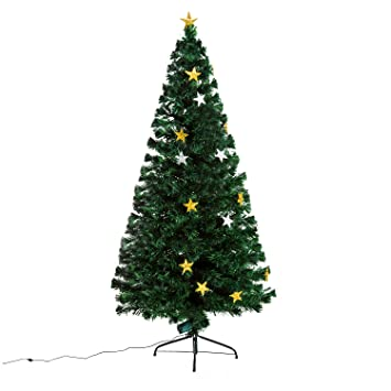 rbol de navidad 180 cm rbol de fibra ptica con 28 luces led - Arbol De Navidad
