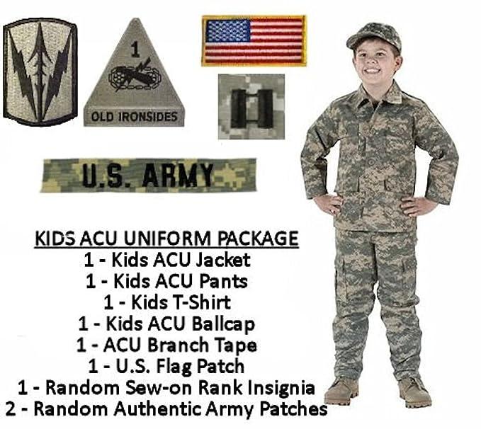 Amazon kids standard military uniform package acu digital kids standard military uniform package acu digital x small 4 solutioingenieria Gallery
