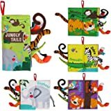 beiens Soft Baby Cloth Books, Touch and Feel Crinkle Books, for Babies, Infants & Toddler Early Development Interactive Toys,