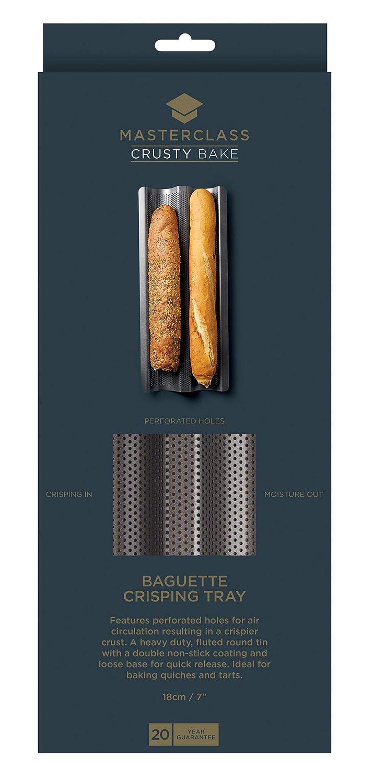 Molde Perforado Crusty Bake Baguette 39cm x 16.5cm x 2.5cm: Amazon ...