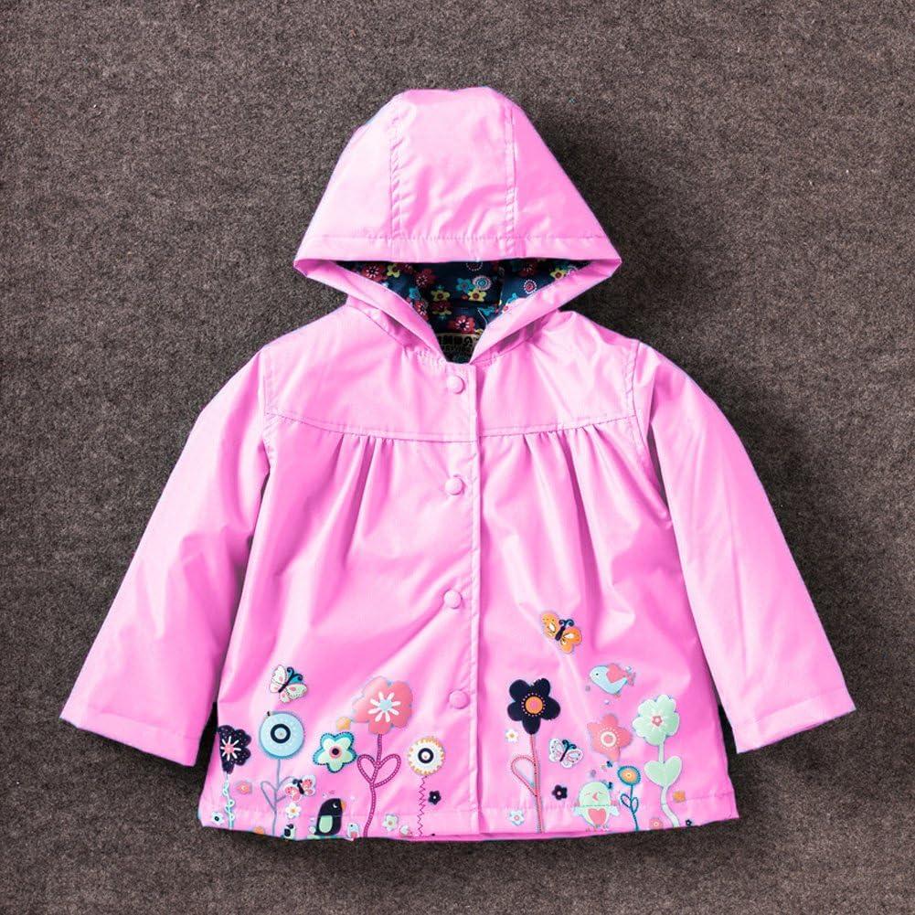 CADong Little Girls/'Waterproof Hooded Coat Jacket Outwear Raincoat