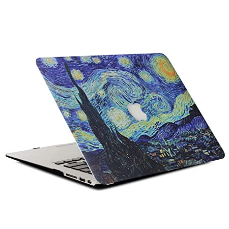 AQYLQ Funda para MacBook Air 13 2018 Carcasa MacBook Air 13 Pulgadas para Apple Macbook Air 13 Inch A1932, Patrón Recubierto de Goma Plástico Cubierta ...