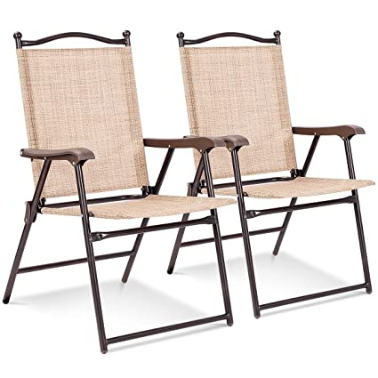 Amazon.com: Juego de 2 sillas plegables para patio o patio ...