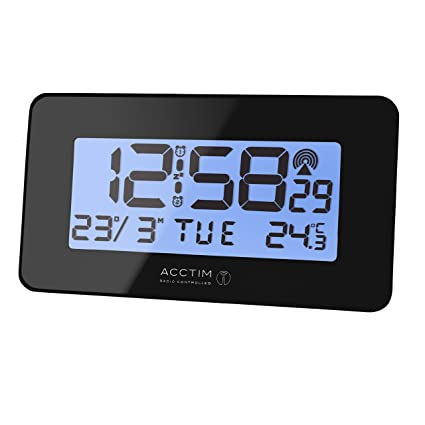 Acctim 71883 Moritz - Reloj Despertador con Radio controlado, Color Negro