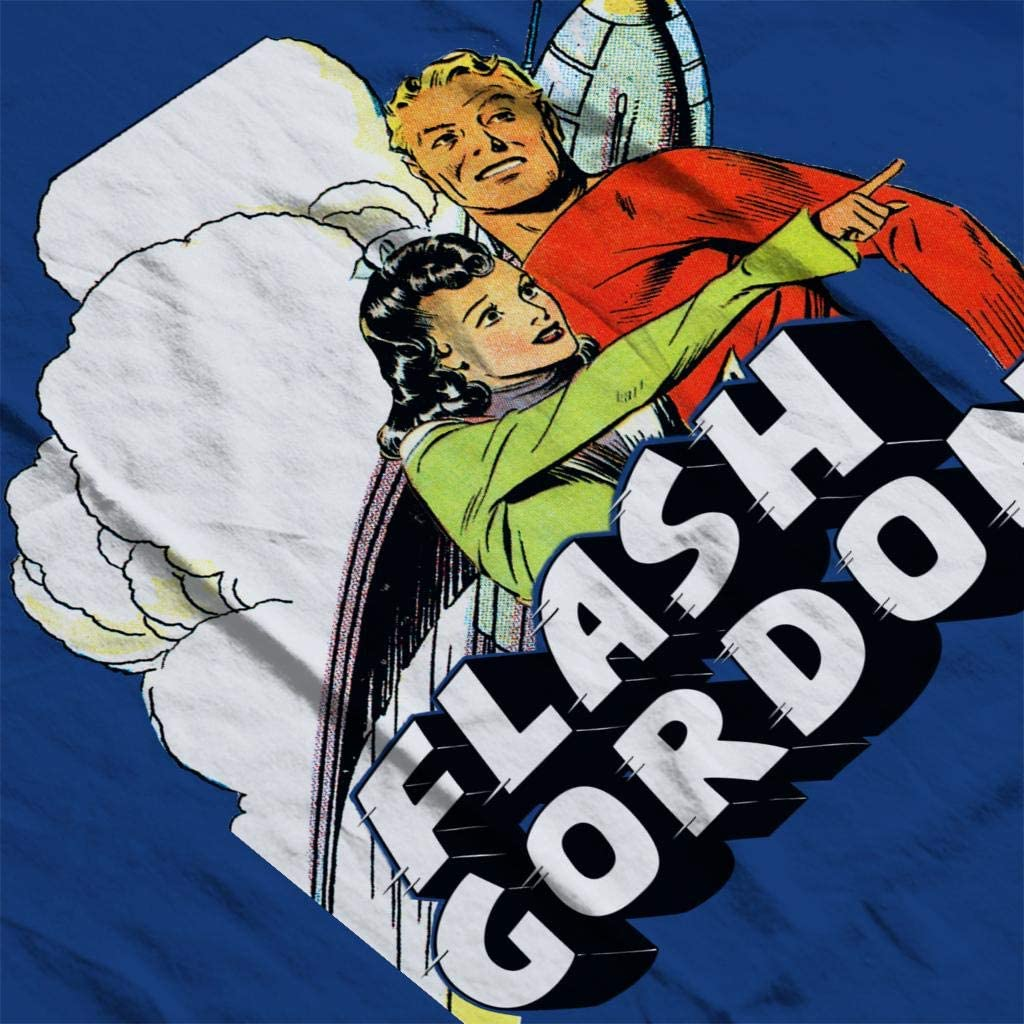 Comics Kingdom Flash Gordon and Dale Ship Montage Mens Sweatshirt