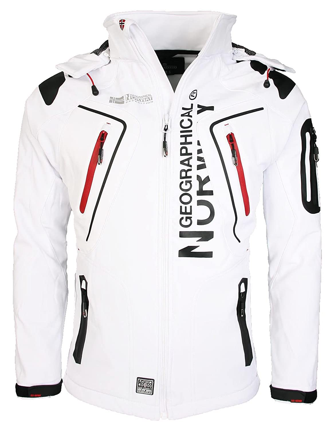 Blanc M Geographical Norway Tambour Veste Softshell Homme