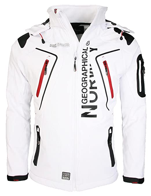 Norway Look Respirants Sportif Manteaux Geographical Blancs Homme Imperméables wB8XtxqU