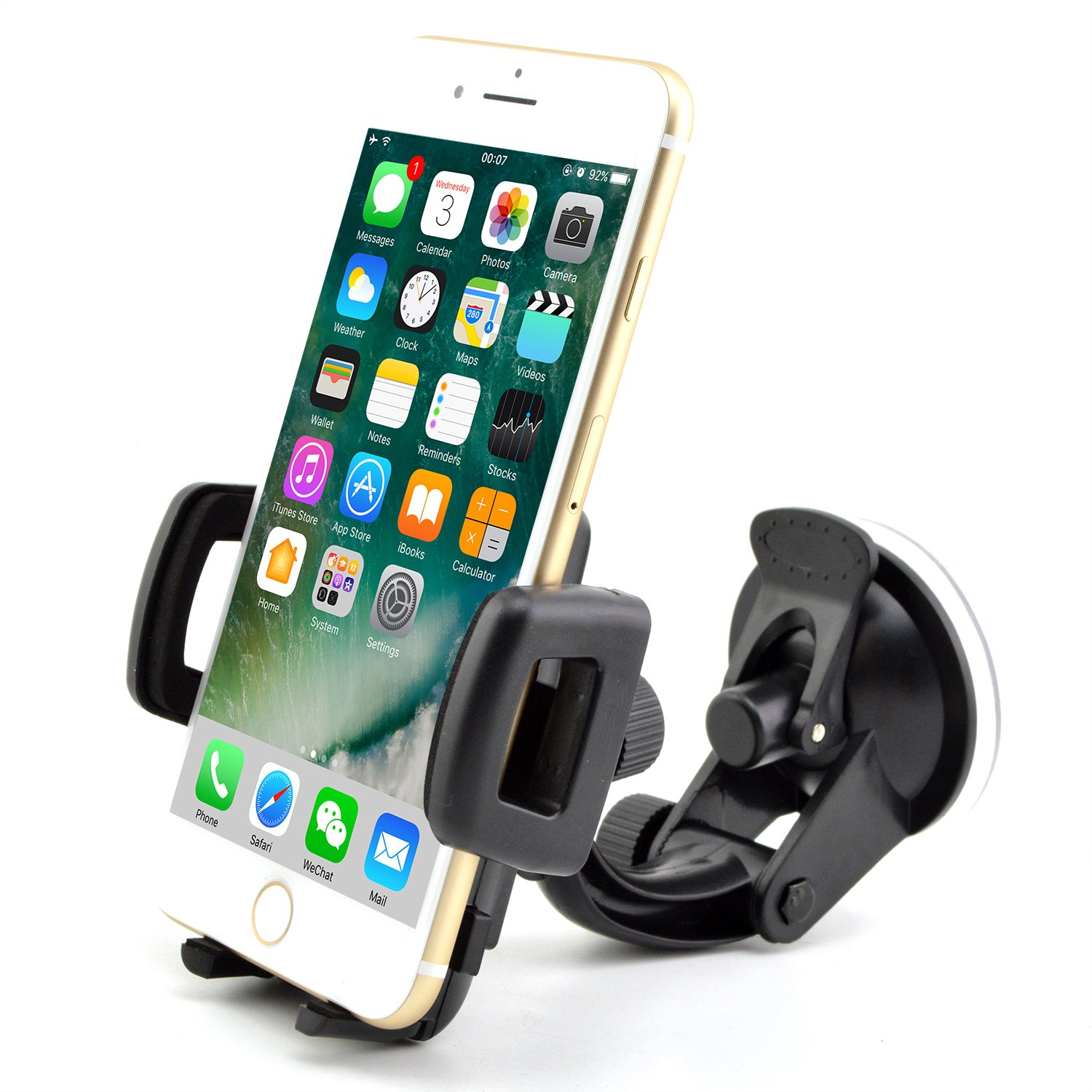 in Car Phone Holder Best Universal in Car One Touch in Car Holder  Windscreen Cradle for iPhone 7 / 6s / 6 / 5s / 5c / 4S / 4 / 3GS Samsung  Galaxy Note