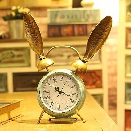 CNBBGJ Reloj Continental, salón creativa simple reloj, plancha retro sentado reloj, reloj de