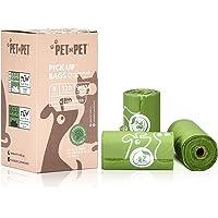 PET N PET Poop Bags Compostable Dog Waste Bags 120 Counts 8 Rolls Poop Bags Pet Clean up Bags Green Earth-Friendly…