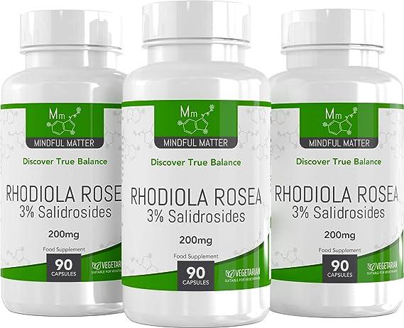 Rhodiola Rosea Comprimidos - 200 mg | 3% de contenido de salidroside | PARA LA PÉRDIDA DE PESO Y EL METABOLISMO ENERGÉTICO | Aumenta el Rendimiento ...