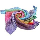 COMVIP Multicolore Foulard Châle Style Nation Écharpe en Coton Imprimé 07eea35b982