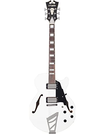 DAngelico Premier SS Semi-Hollow Electric Guitar w/ Stairstep Tailpiece - White