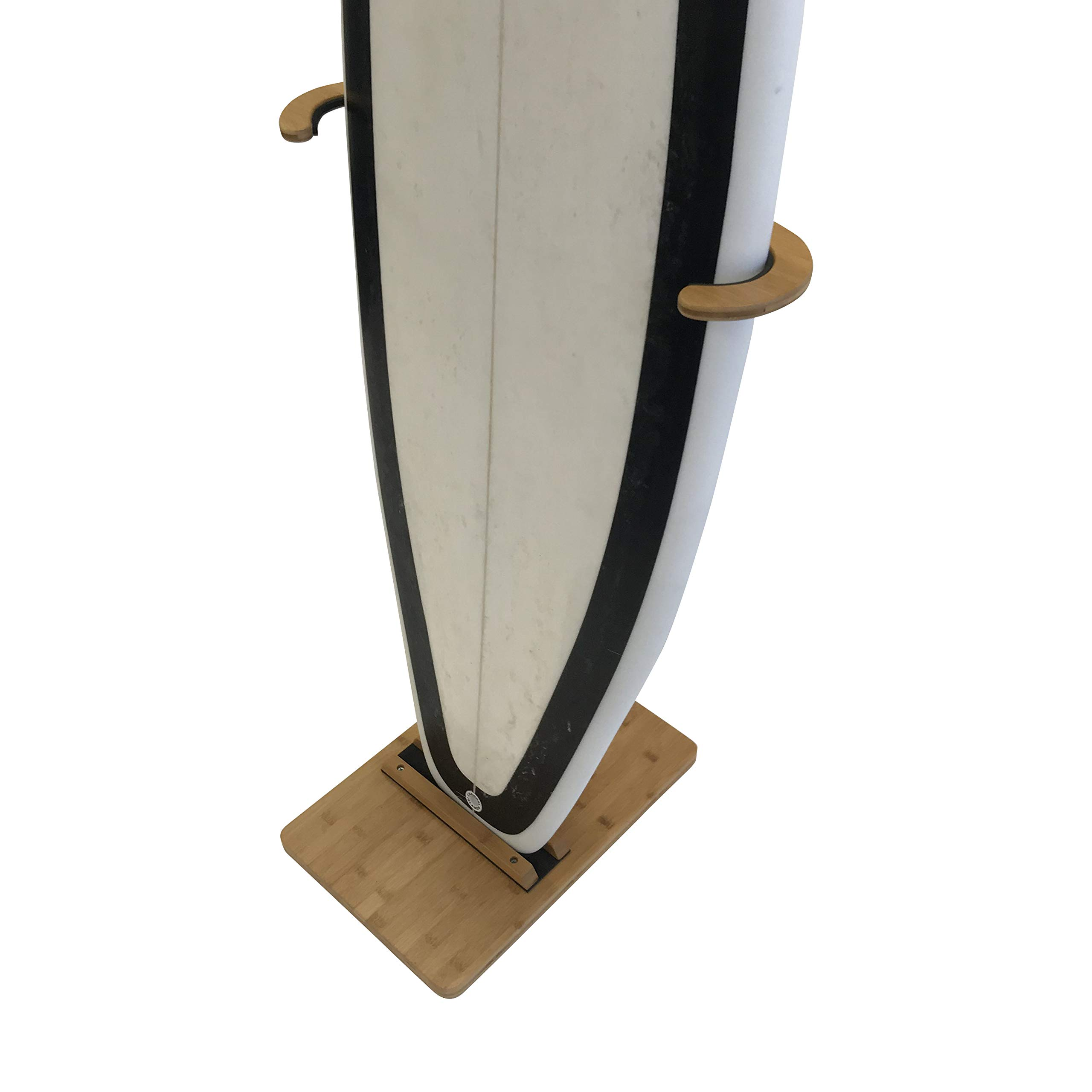 Cor Surf Bamboo Surfboard Stand   Premium Standing Rack to Display Your Board