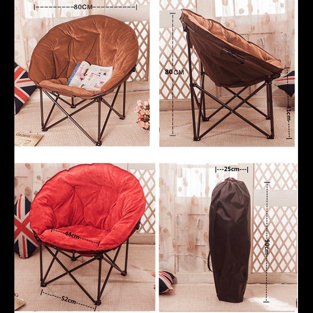 Edge to Chair Folding Chairs Folding Moon Chair Radar Chair Sun Chair Lazy Chair Sofa Chair Recliner Folding Chair Nap Back Chair (Color : Navy) Rose Red