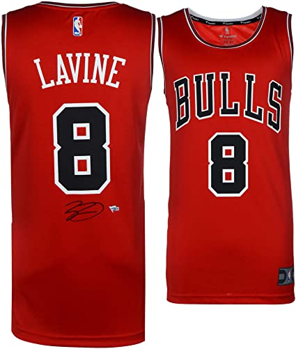 designer fashion b4aae 289a7 Zach LaVine Chicago Bulls Autographed Red Fanatics Fast ...