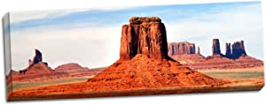 Gango Home Décor Monument Valley at Tribal Park, Fine Art Photograph by: Douglas Taylor; One 36x12in Hand-Stretched Canvas