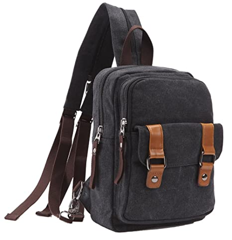 9630b747b52 Amazon.com: Arbag Small Cute Backpack Vintage Casual Canvas Shoulder Bag  Daypack 8528bag,Black: Sports & Outdoors