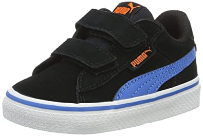 Puma 1948 VULC, Unisex-Kinder Sneakers, Low-Top Sneaker, Blau (Peacoat/White), 23 EU