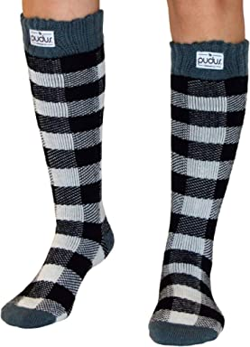 Pudus adult W6-10 tall cozy winter boot Socks · Pudus Cable Knit Adult one  Size Cozy Winter hat Sherpa Lining 757ab150e0bd