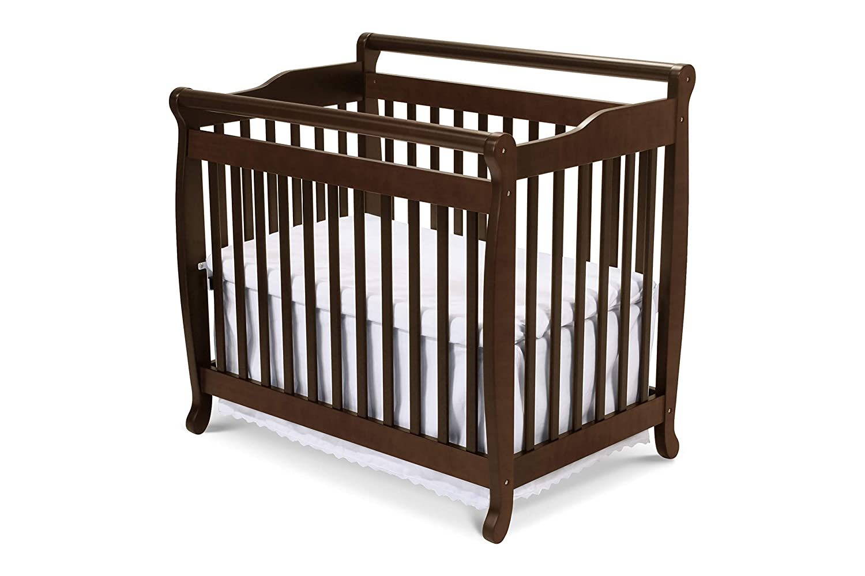 White DaVinci Emily 2-in-1 Mini Crib and Twin Bed
